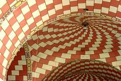 Santiago (Farl) Tags: travel pink santiago colors paint catholic patterns faith philippines nave dome simbahan christianity escher stjameschurch zamboanga mcescher cylindrical transverse zamboangadelnorte dapitan