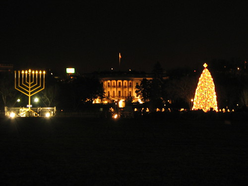 Image result for white house menorah under the christmas tree