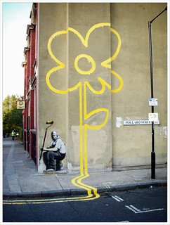 Banksy, Pollard St - it doesn't look like this anymore...