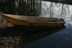 Sinking boat (amyswac) Tags: holland field boat associates christian orientation sinking zaanse schans
