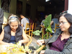 Megan's into it, Amy's not so sure... (ulysses68) Tags: china yangshuo guanxi