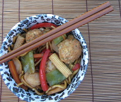 Chicken meatball stir fry2