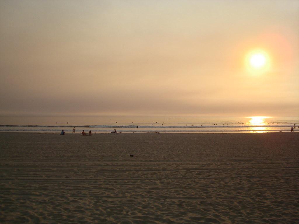 ベニスビーチの夕焼け