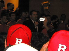 Coach Schiano addresses the crowd