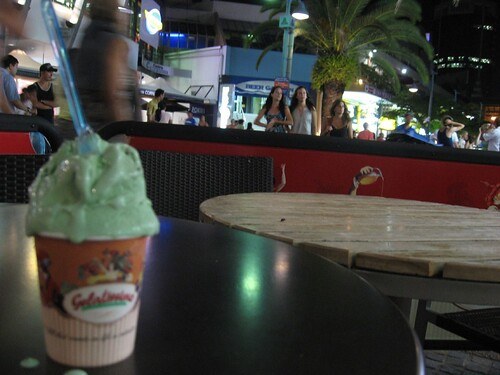 Mint gelato before the bus to Brisbane
