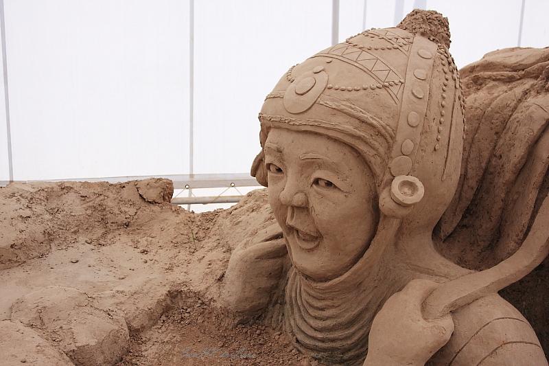 Hi @ World Sand Sculpture Festival, Chacherngsao, Thailand