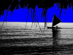 BLUE BAROTO (charlie1020) Tags: blue yellow sailboat baroto