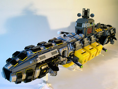 SHIP WIP 10 (M.R. Yoder) Tags: toy ship lego space wip hobby plastic goldman ghoul moc