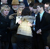 Funeral for 15 year old. Port Jervis, NY. 1/30/2008.