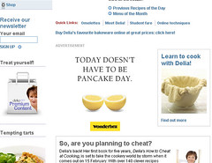 Pancake day - Wonderbra ads on Delia Online!