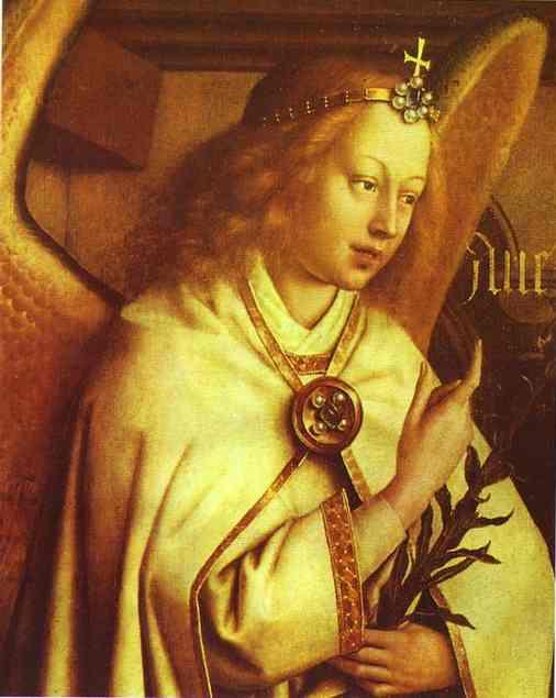 EYCK, Jan van Annunciation (Gabriel) 1432