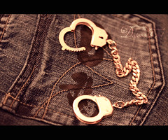 ..{   .... ( Marron Glac) Tags: k gold band chain jeans bond cuff cuffs handcuffs restraint shackle restriction handcuff wristlet fetter manacle