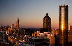 A Town (craigbattle.com) Tags: city atlanta sunset sky sun building skyline architecture digital skyscraper pencil canon georgia landscape rebel hotel downtown 300d dusk atl horizon line highrise digitalrebel westin magichour westinhotel scraper atown americasmart downtownatlanta marriettastreet pencilbuliding