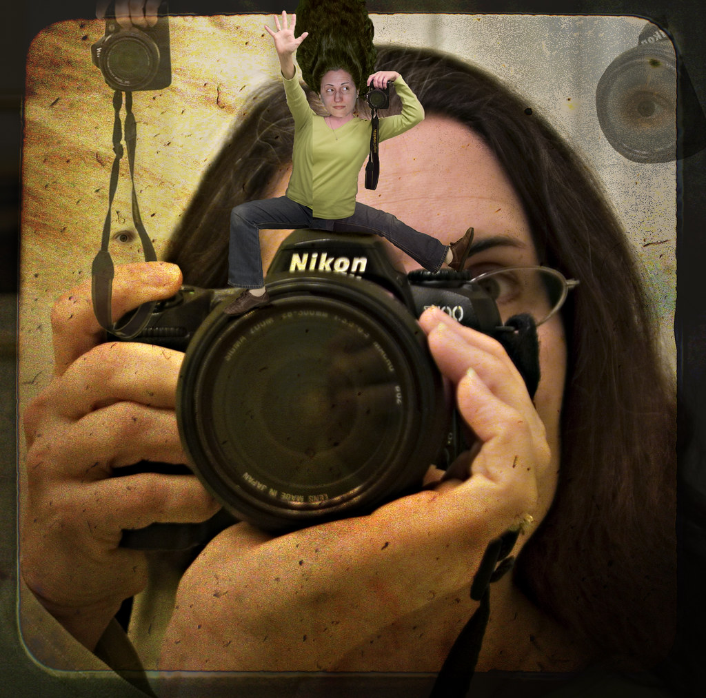 Self-Portrait with Camera Collage