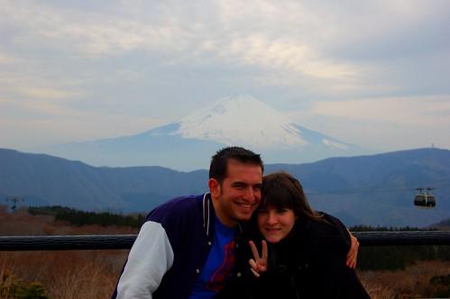 Con Nana en el Fuji