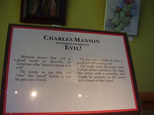 Charles Manson Pee