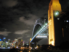 Harbour Bridge (Kyaw Photography) Tags: city bridge light skyline architecture canon harbour tripod australia