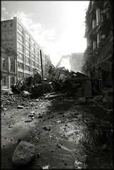 Demolished Glasgow (Mayastar) Tags: bw war glasgow demolition trashbit mayastar nikond801224mmf4dx youmeaninternalwar mayastarphotography shotinglasgow
