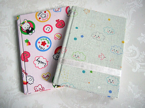 Kawaii Fabric Notebooks