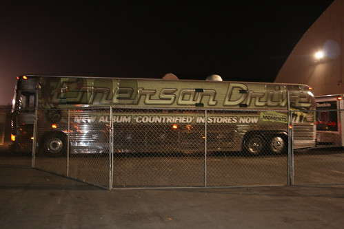 when their old tour bus (pictured above) hit it's one-millionth mile on
