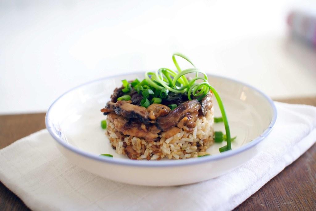 """Rice Cooker Chicken Rice"""