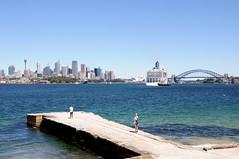 Sydney views (-Mina-) Tags: australia sydney views skyline bradleyshead city sea water harbourbridge harbour pier