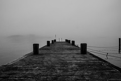 Hovås (@Merssan) Tags: hovås sweden askim gothenburg water bridge brygga fog foggy blackwhite billdal outdoor