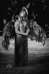 Model: Kieran Wallace MUA: Quinn.tessential Effects https://www.facebook.com/heartquinn99/?ref=page_internal (SteveMarijanich) Tags: modelkieranwallace muaquinntessentialeffects hydepark perth ppg febuary sword wings god