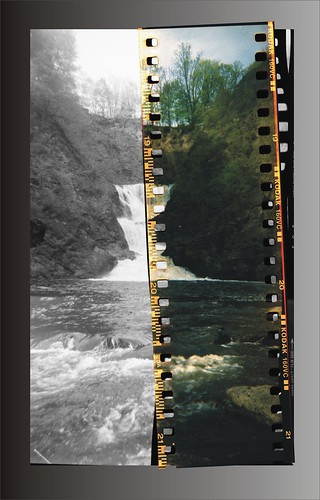 Mt. Ida Falls, Troy, NY - split film