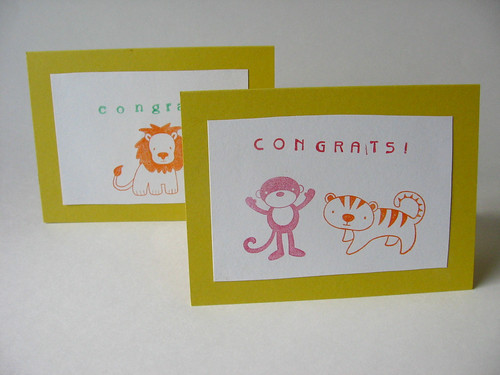 Animal Stamped Cards