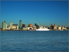 Liverpool Skyline 11th March 2014 (Cassini2008) Tags: liverpool rivermersey mvdiscovery liverpoolwaterfront