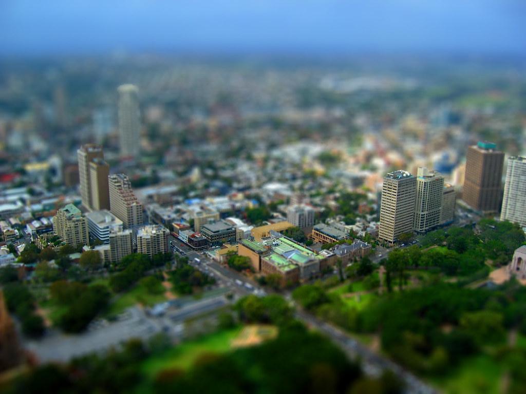 Sydney, tilt-shifted