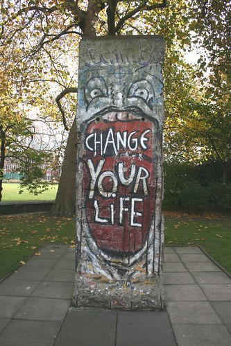 Section of the Berlin Wall by the Graffiti Artist - Indiano