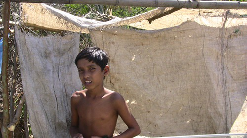 Kid in Newly Built Slum