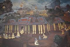 paintings (life's a gasp) Tags: thailand temple bangkok paintings watphrakaeo ramayana ramakien