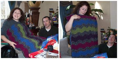 Stefania's Soft Waves Ripple afghan