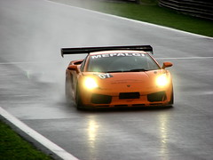 Lamborghini Gallardo (Alemiro Jr.) Tags: orange wet rain flickr laranja chuva spray paulo sao asfalto lamborghini gp gallardo interlagos molhado reta oposta