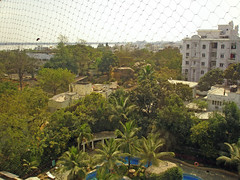 View from my room in the Kakatiya, Hyderabad