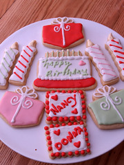 birthday cookies (nikkicookiebaker) Tags: cookies decorated
