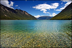 summer at sumner (Daniel Murray (southnz)) Tags: blue newzealand summer lake green water landscape scenery nz southisland sumner southnz