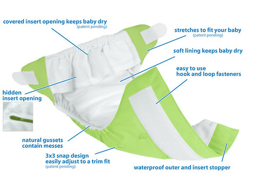 bumGenius 3.0 One-Size Cloth Diaper Features