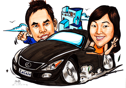 Caricatures Couple Lexus Lacasa