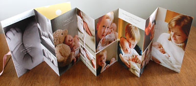 baby photo accordion book
