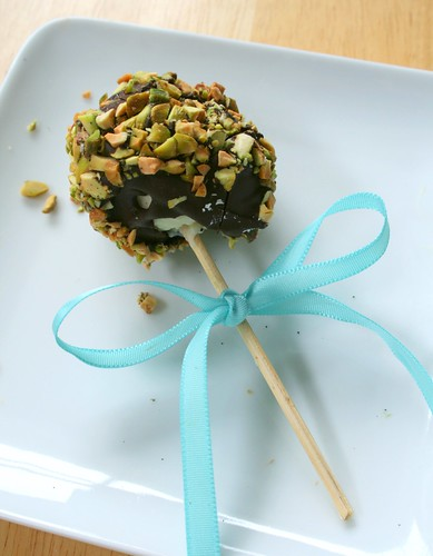 Dark Chocolate Pistachio Cheesecake Pop