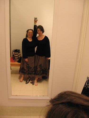 Two peas in a pod . . . err . . . dressing room