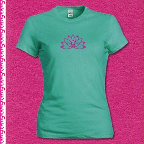 Lotus flower t-shirt Jade