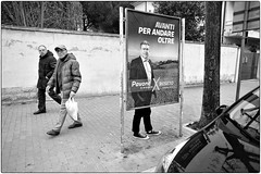 Dietro Per Andare Avanti (Steve Lundqvist) Tags: politic election path footpath sidewalk street road converse mayor advertising streetphotography