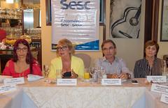 Diretora Administrativo-financeira do Sesc, Elza Isac; diretora Regional do Sesc, Jeane Amaral; presidente Marcelo Queiroz; e diretora de Programas Sociais do Sesc, Ilsa Galvão