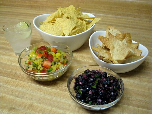 Mixed Fruit and Blueberry Salsas