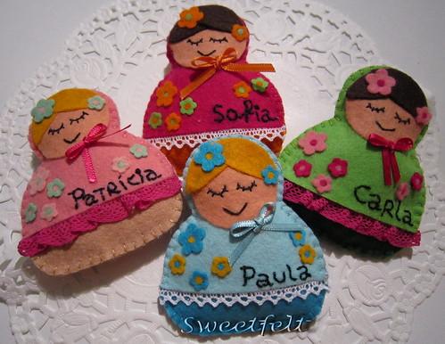 ♥♥♥ E estes são os presentes que  a Martinha vai oferecer às suas educadoras... by sweetfelt \ ideias em feltro